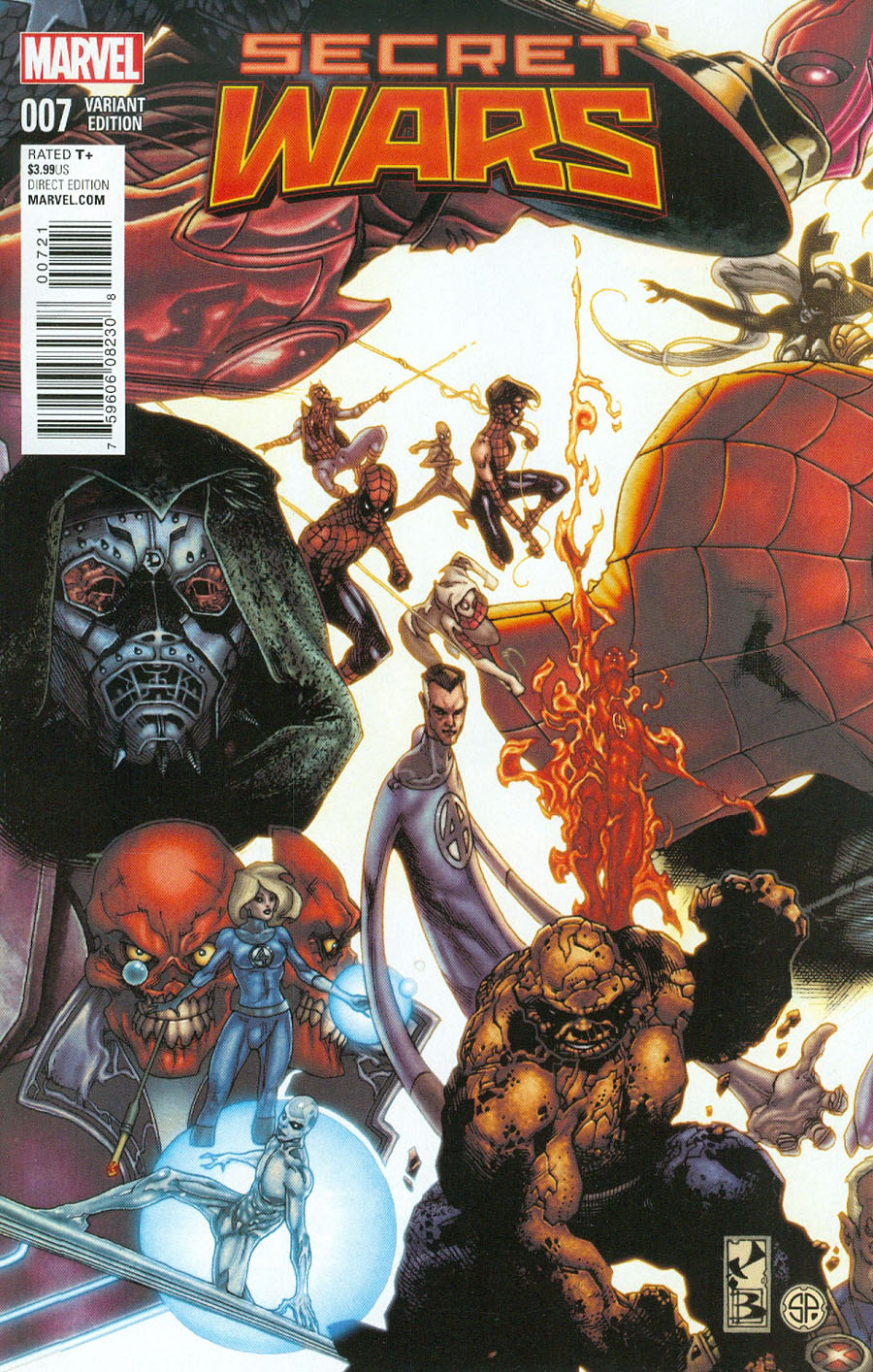 Secret Wars #7 Cover E Incentive Simone Bianchi Connecting Variant Cover