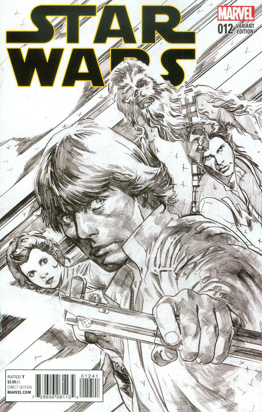 Star Wars Vol 4 #12 Cover C Incentive Stuart Immonen Sketch Cover