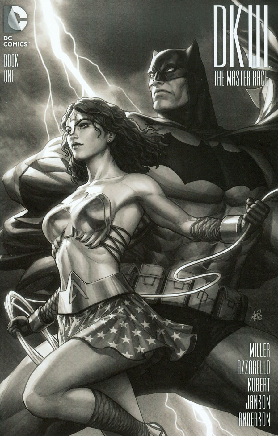 Dark Knight III The Master Race #1 Cover F Limited Edition Comix Exclusive Stanley Artgerm Lau Black & White Variant Cover