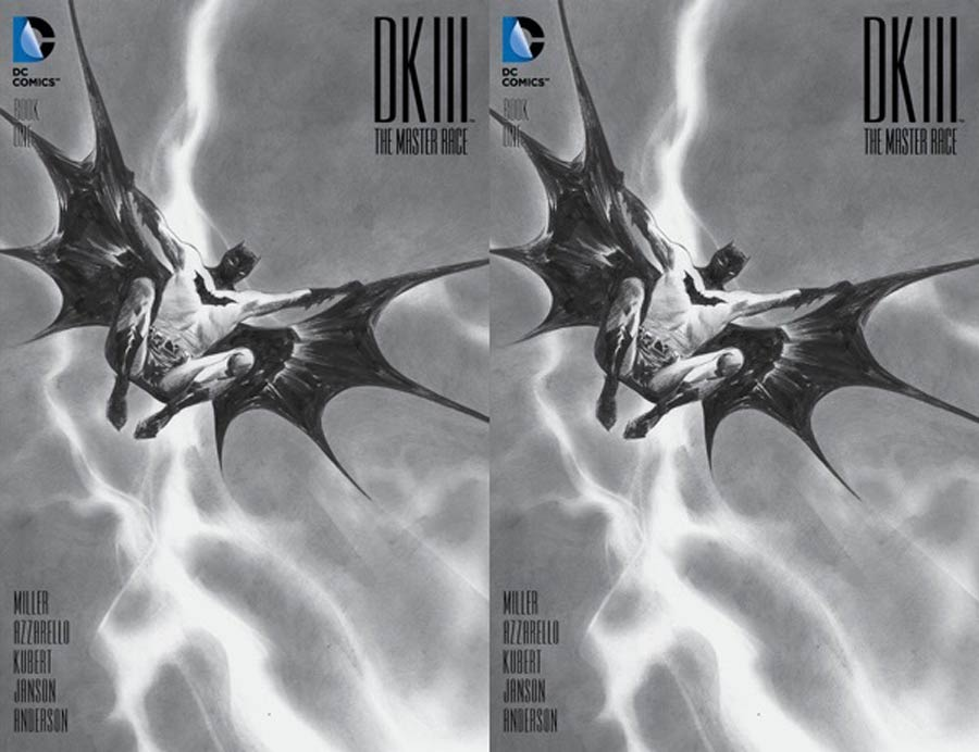 Dark Knight III The Master Race #1 Cover U DF Exclusive Jae Lee Black & White Variant Cover Dual Pack