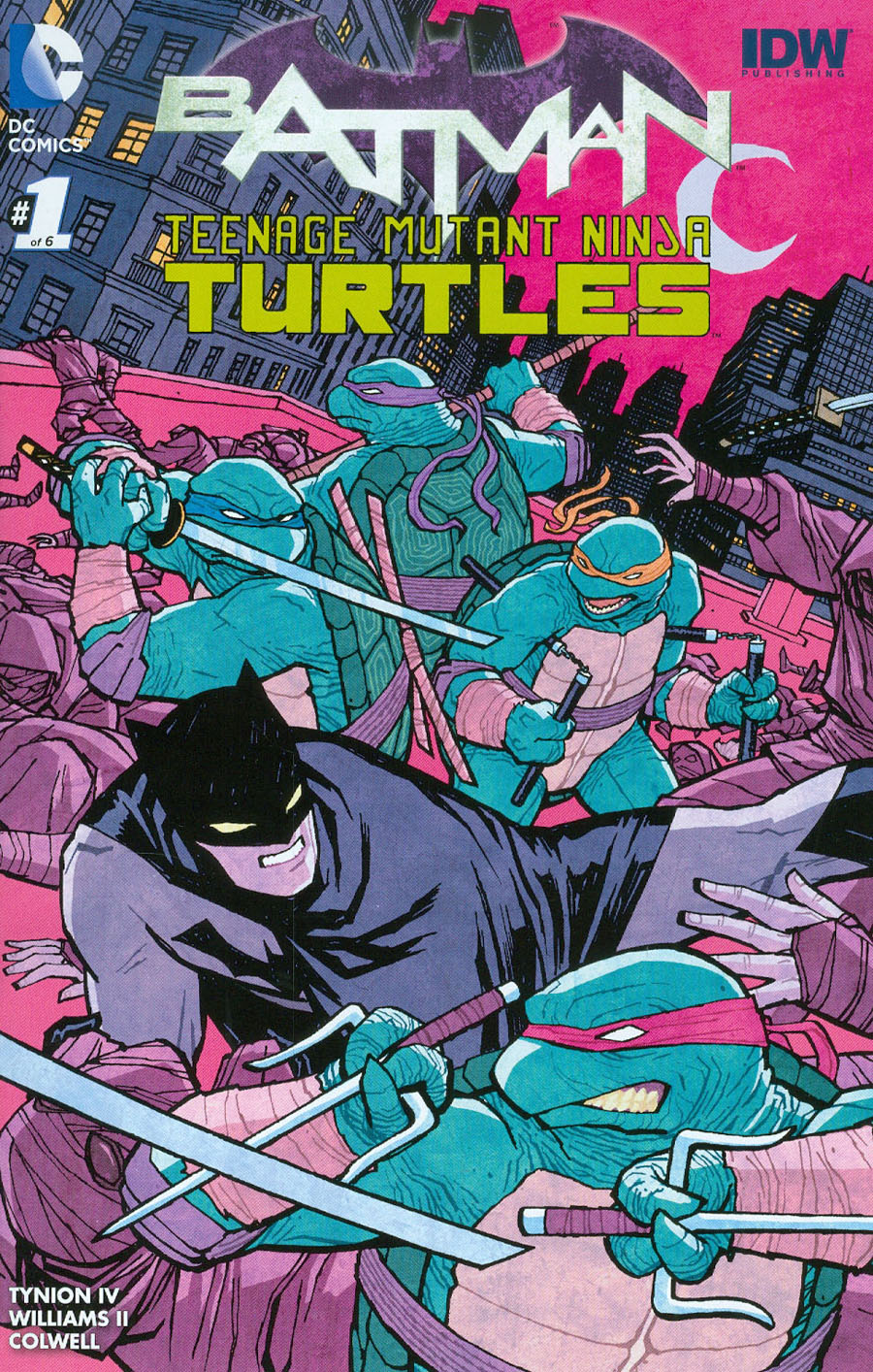 Batman Teenage Mutant Ninja Turtles #1 Cover B Midtown Exclusive Cliff Chiang Color Variant Cover