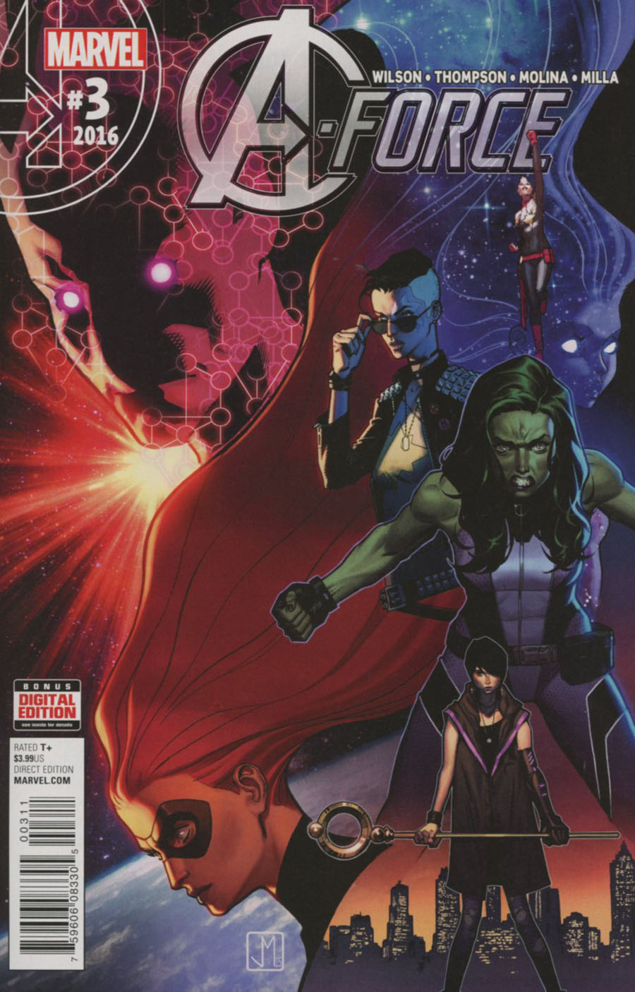 A-Force Vol 2 #3 Cover A Regular Jorge Molina Cover