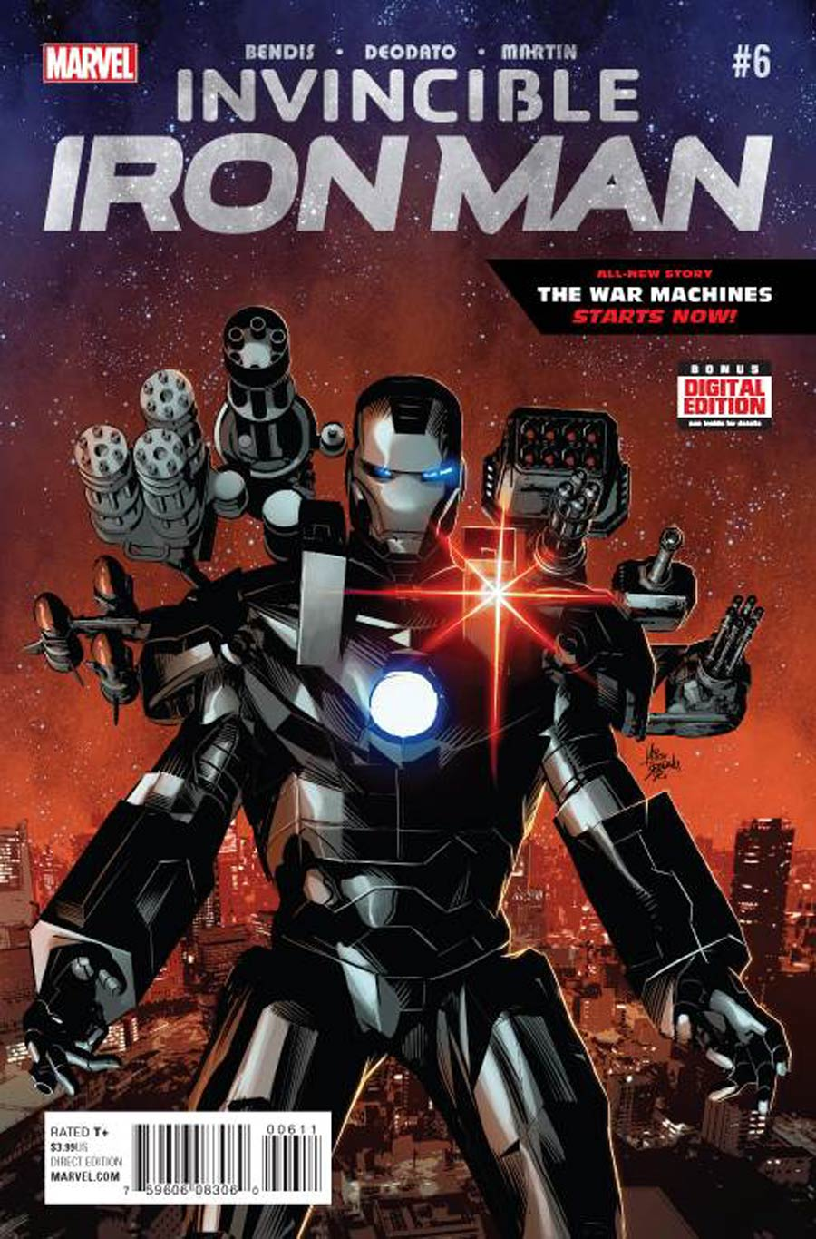 Invincible Iron Man Vol 2 #6 Cover A Regular Mike Deodato Jr Cover