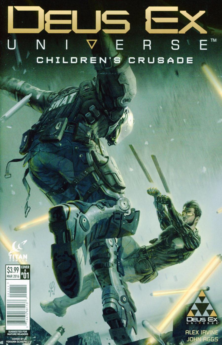 Deus Ex Universe Childrens Crusade #1 Cover A Regular Yohann Schepacz Concept Design Cover