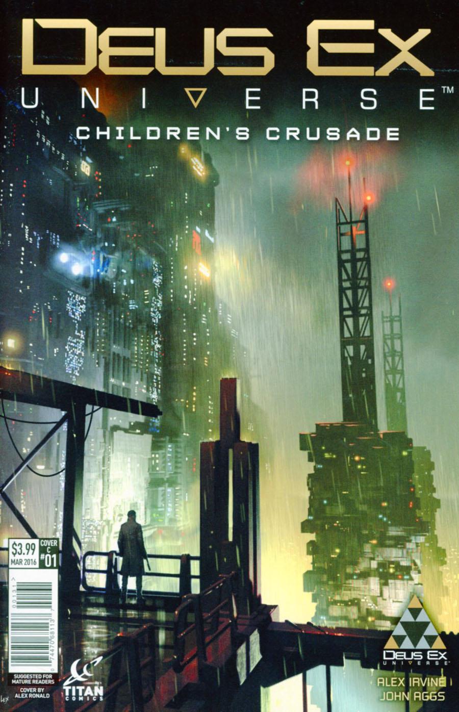 Deus Ex Universe Childrens Crusade #1 Cover C Variant Alex Ronald Cover