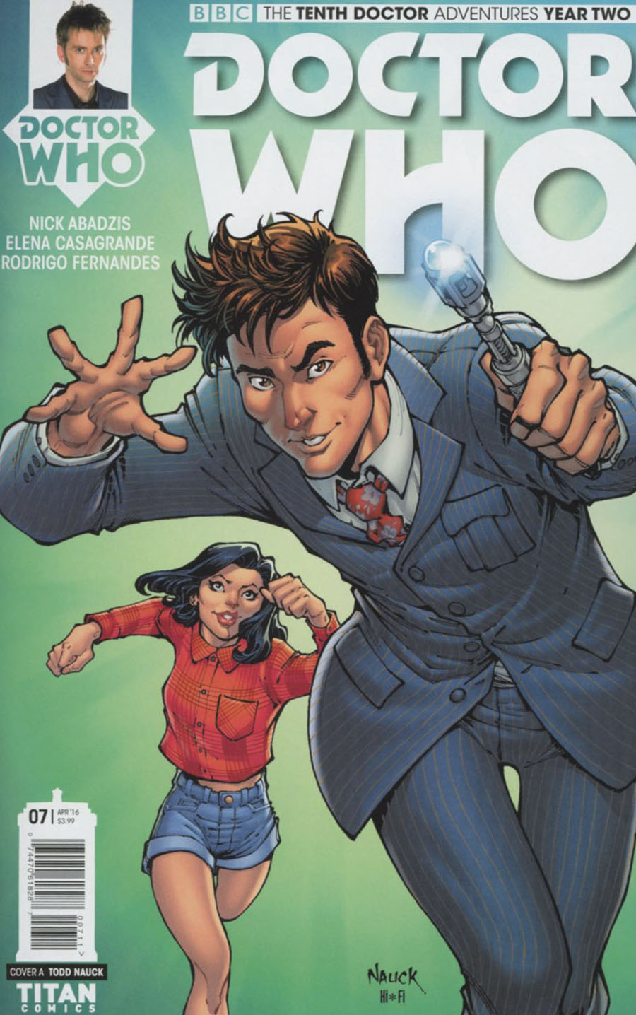 Doctor Who 10th Doctor Year Two #7 Cover A Regular Todd Nauck Cover