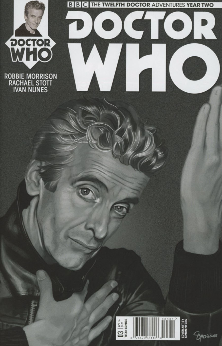 Doctor Who 12th Doctor Year Two #3 Cover C Variant Simon Myers Cover