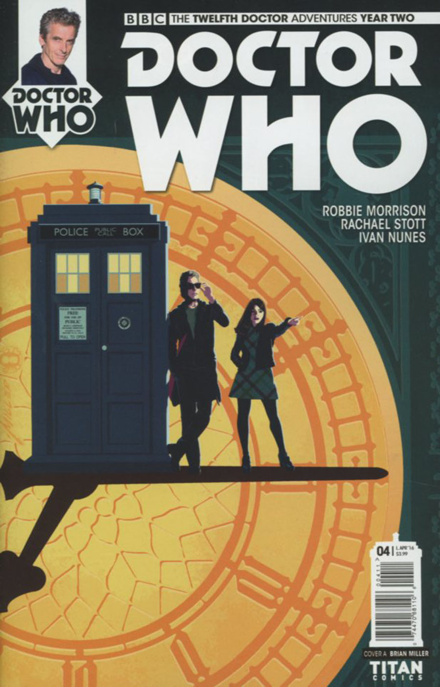 Doctor Who 12th Doctor Year Two #4 Cover A Regular Brian Miller Cover