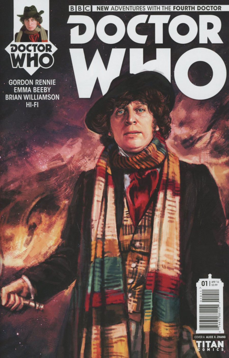 Doctor Who 4th Doctor #1 Cover A Regular Alice X Zhang Cover
