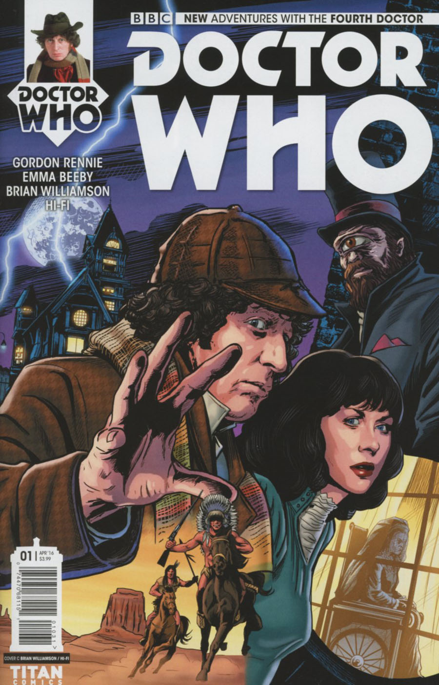 Doctor Who 4th Doctor #1 Cover C Variant Brian Williamson Cover