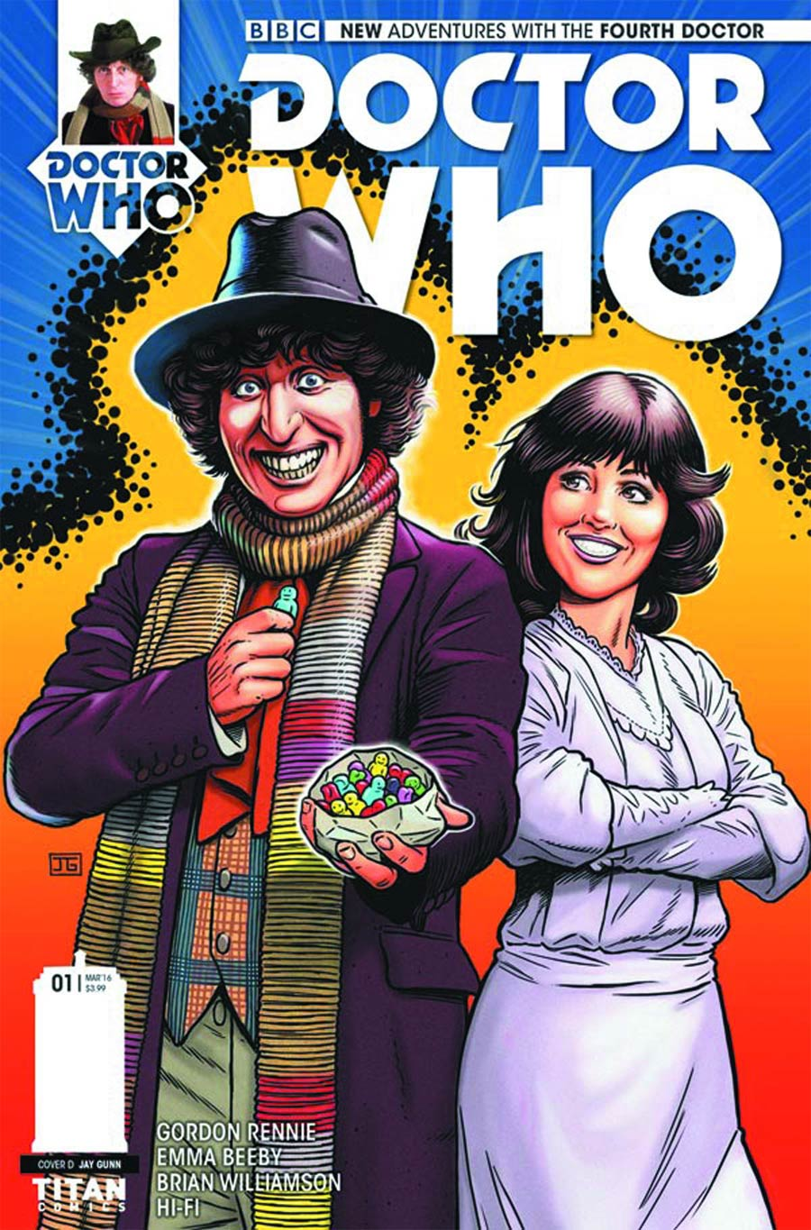 Doctor Who 4th Doctor #1 Cover F Variant Jay Gunn Cover