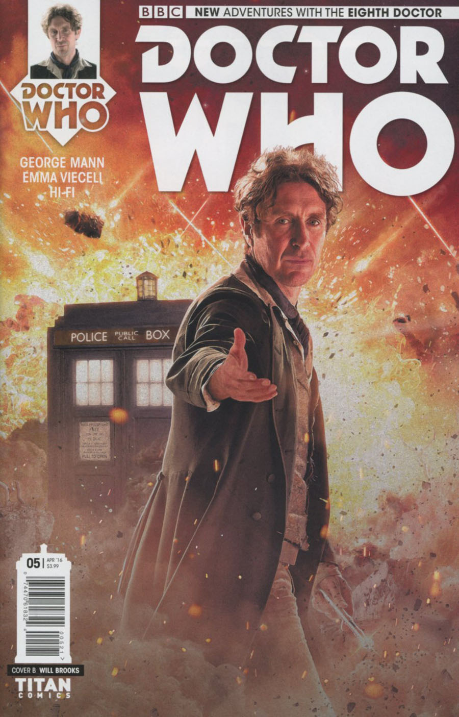 Doctor Who 8th Doctor #5 Cover B Variant Photo Subscription Cover