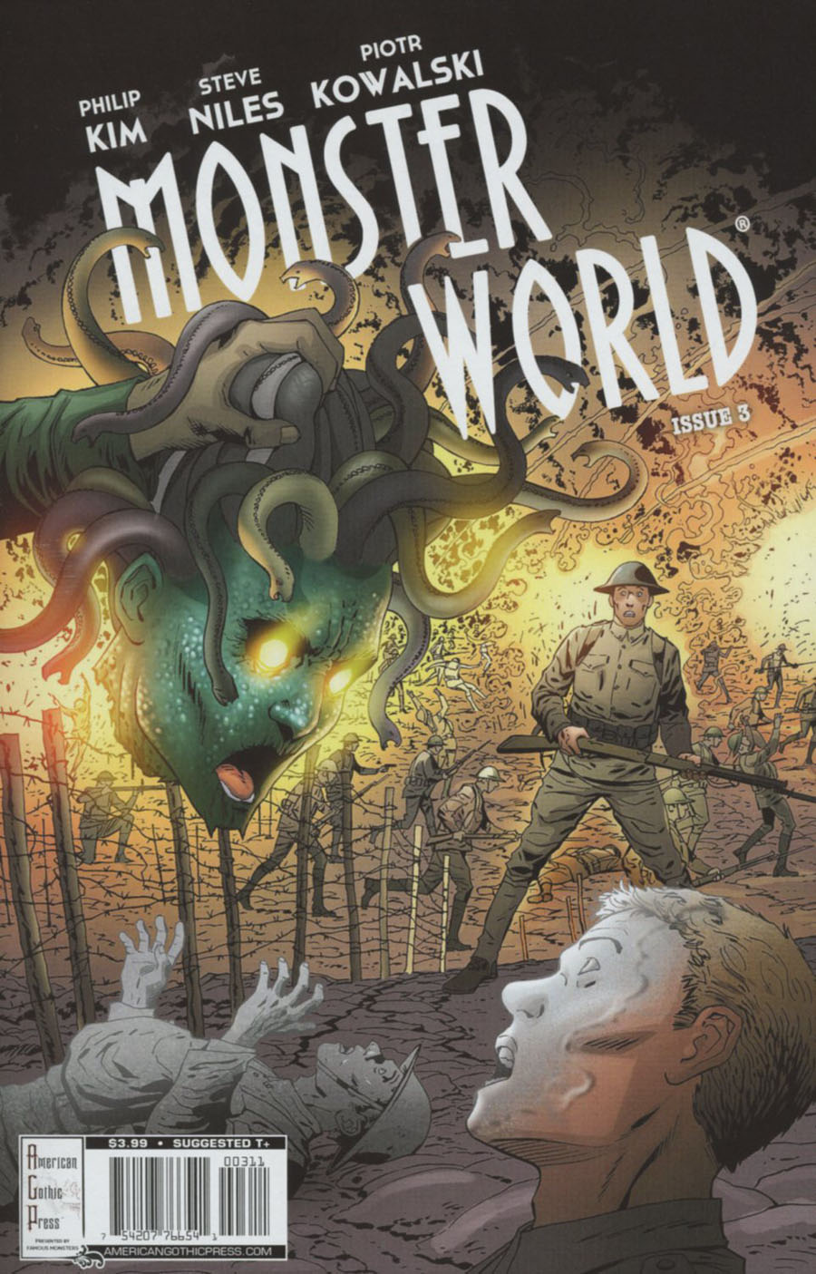 Famous Monsters Presents Monster World #3 Cover A Regular Piotr Kowalski Cover