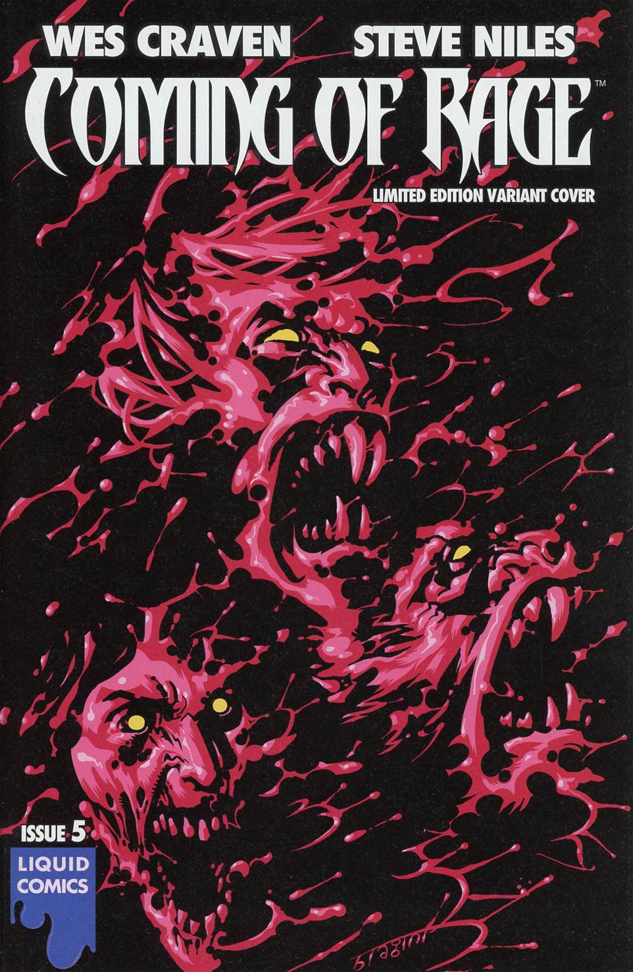 Wes Cravens Coming Of Rage #5 Cover C Variant Francesco Biagini Ultra-Rare Cover