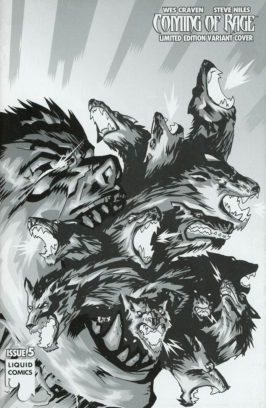 Wes Cravens Coming Of Rage #5 Cover D Variant Francesco Biagini Ultra-Rare Black & White Cover