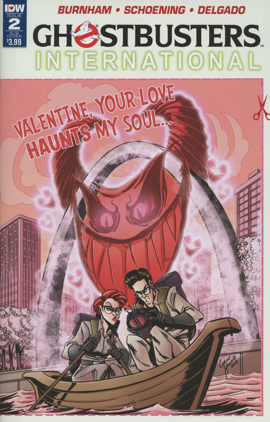 Ghostbusters International #2 Cover B Variant Corin Howell Valentines Day Card Cover