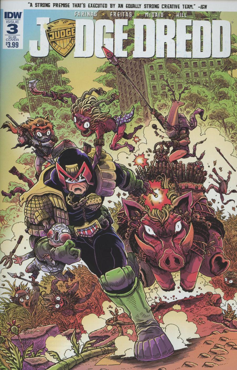 Judge Dredd Vol 5 #3 Cover B Variant James Stokoe Subscription Cover