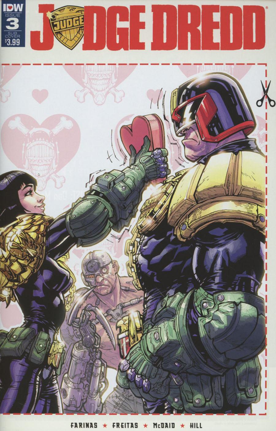 Judge Dredd Vol 5 #3 Cover C Variant Carlos DAnda Valentines Day Card Cover