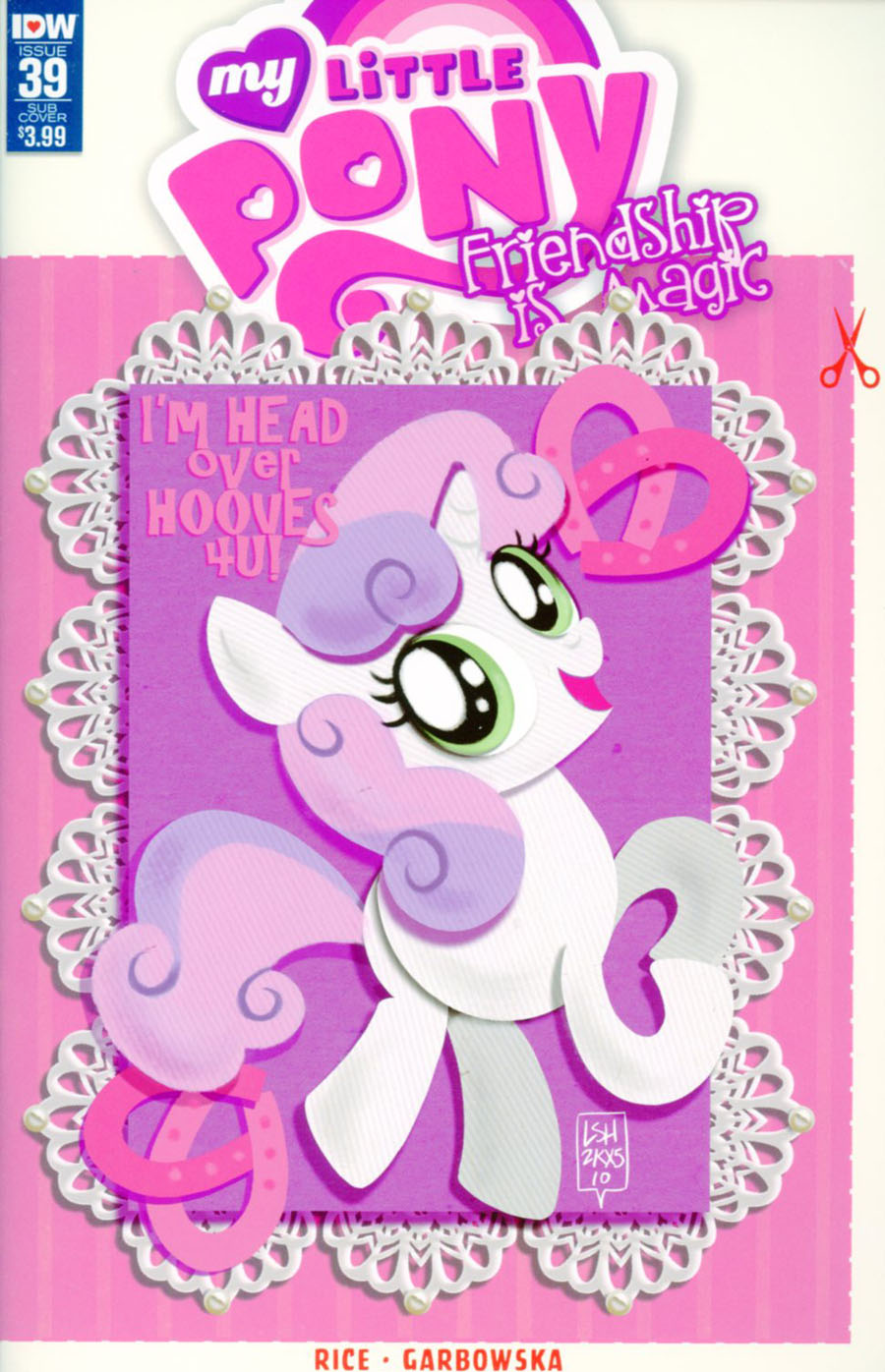 My Little Pony Friendship Is Magic #39 Cover B Variant Lea Hernandez Valentines Day Card Cover