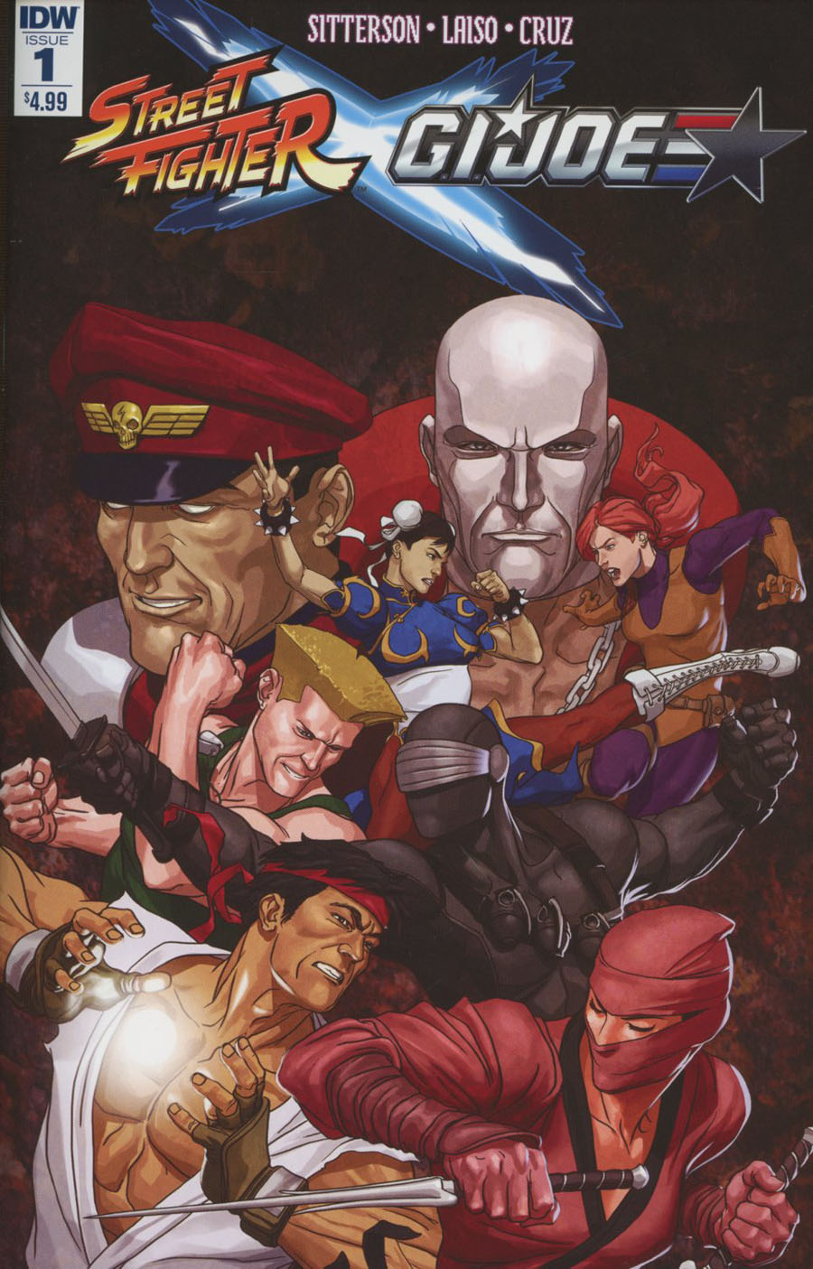 Street Fighter x GI Joe #1 Cover A Regular Mike Choi Cover