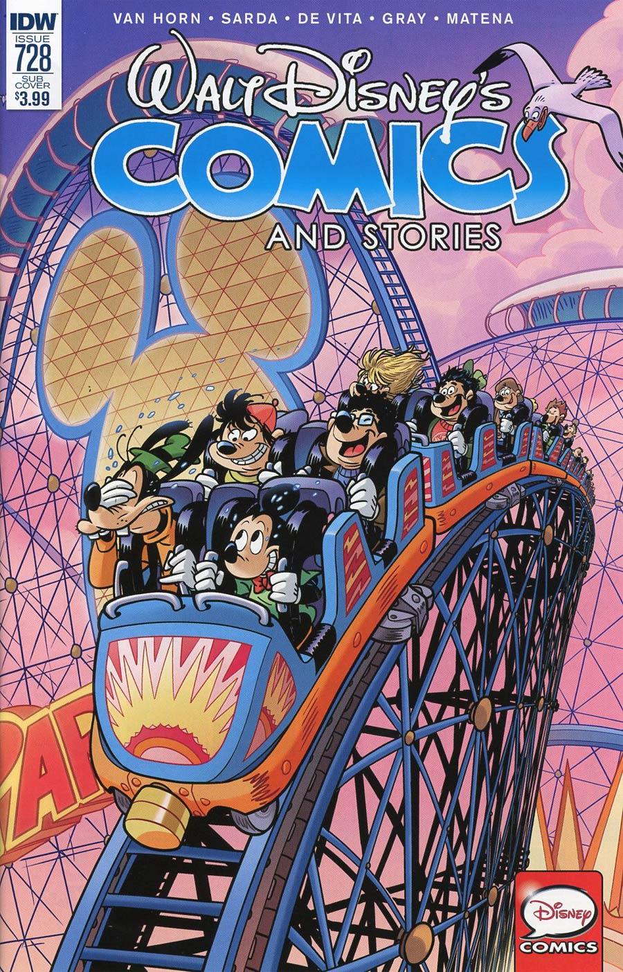 Walt Disneys Comics & Stories #728 Cover B Variant Silvio Camboni California Screamin Subscription Cover