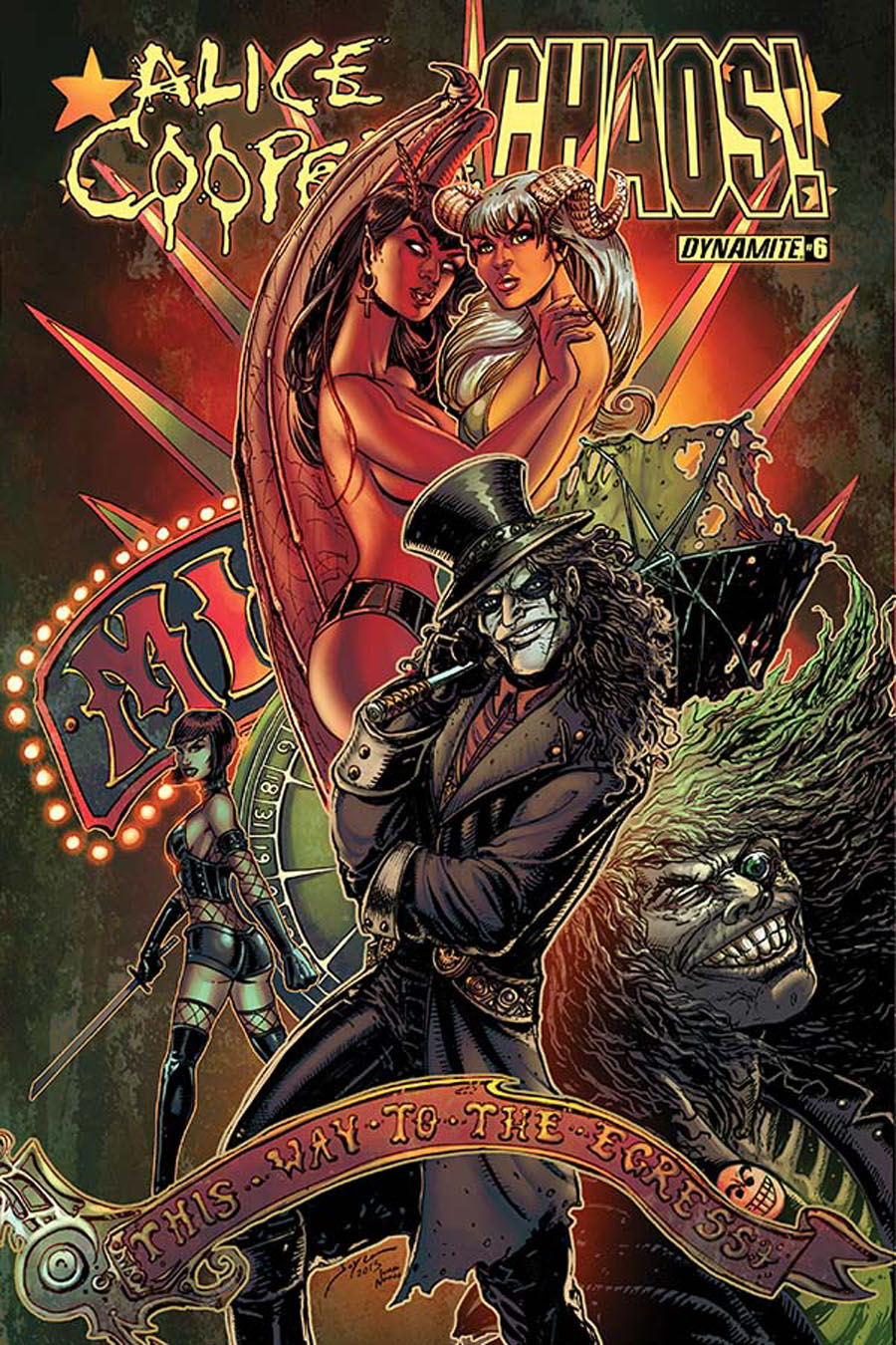 Alice Cooper vs Chaos #6 Cover A Regular Joyce Chin Cover