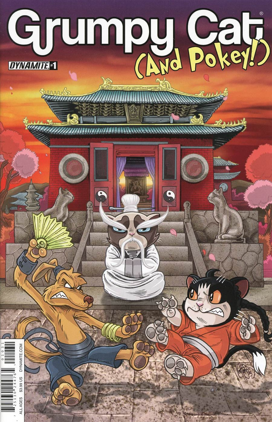 Grumpy Cat & Pokey #1 Cover C Variant Ken Haeser Cover