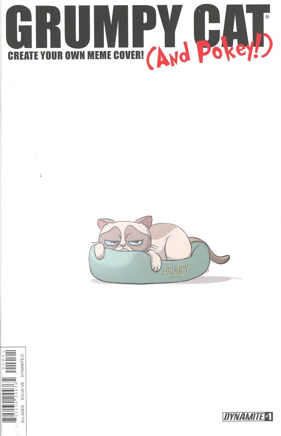 Grumpy Cat & Pokey #1 Cover D Variant MEME Authentix Cover