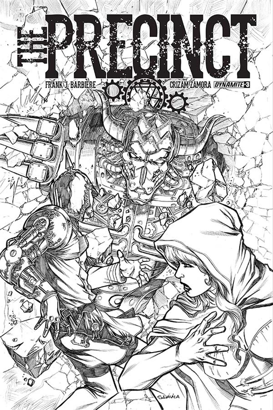 Precinct #3 Cover B Incentive Sergio Fernandez Davila Black & White Cover