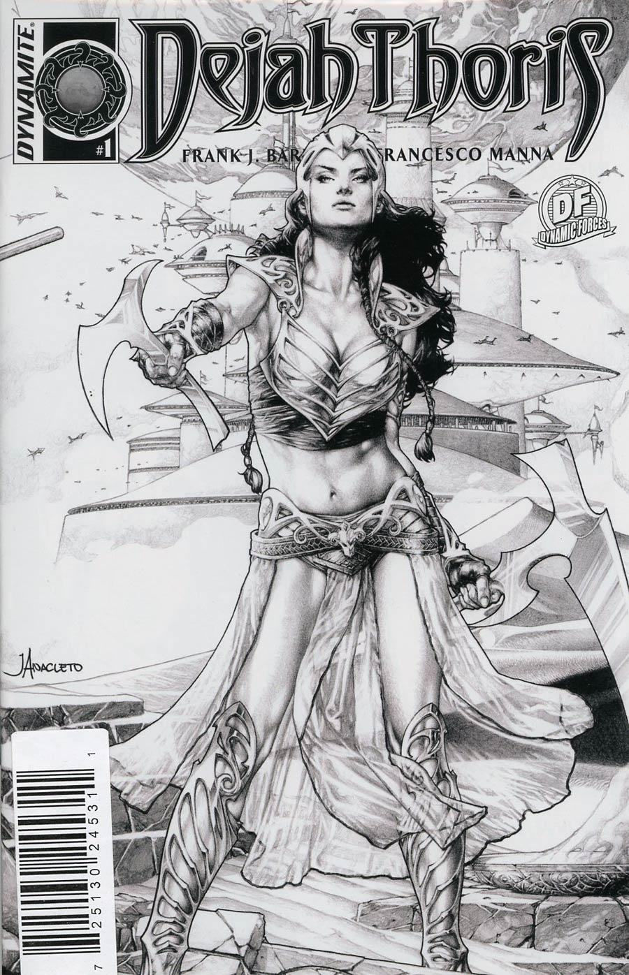 Dejah Thoris #1 Cover L DF Exclusive Jay Anacleto Black & White Connecting Cover