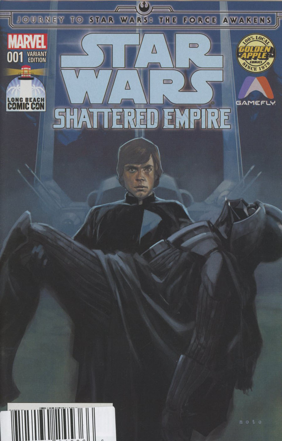 Journey To Star Wars Force Awakens Shattered Empire #1 Cover G DF LBCC Golden Apple Gamefly Exclusive Phil Noto Variant Cover