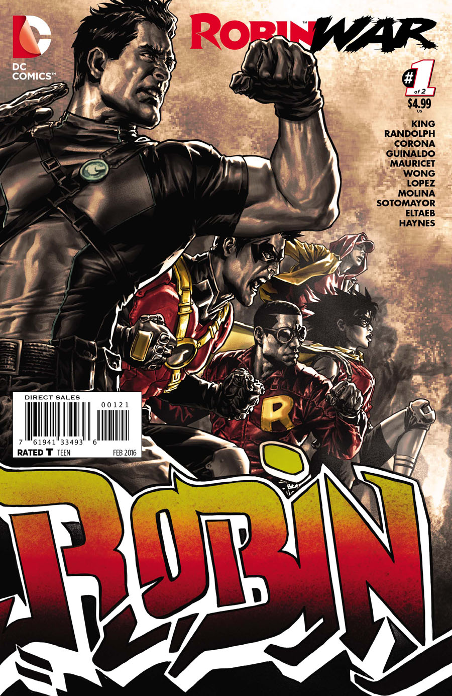 Robin War #1 Cover B Incentive Lee Bermejo Variant Cover (Robin War Part 1)