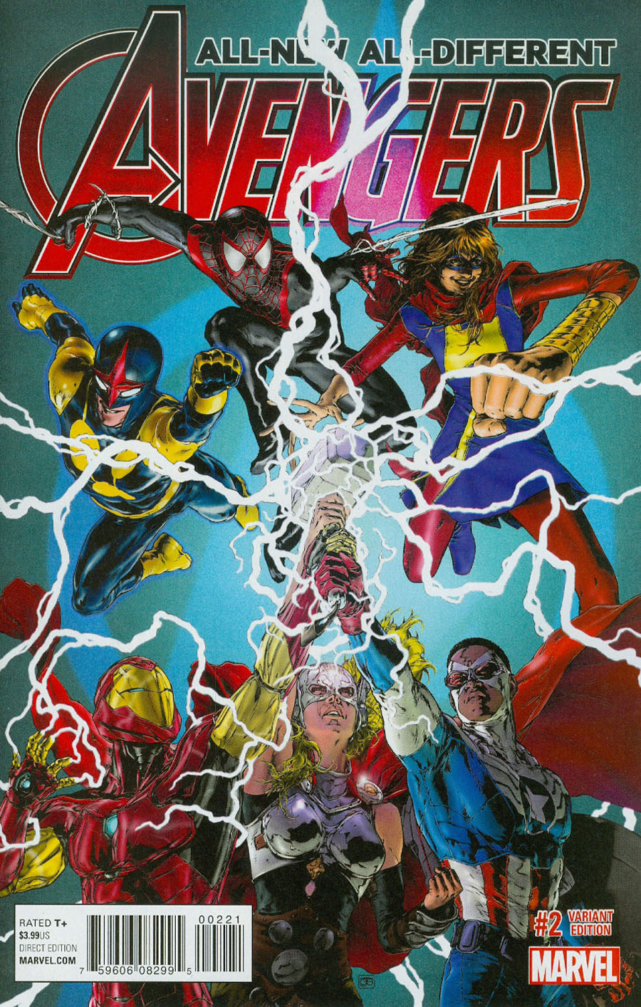 All-New All-Different Avengers #2 Cover B Incentive Oscar Jimenez Variant Cover