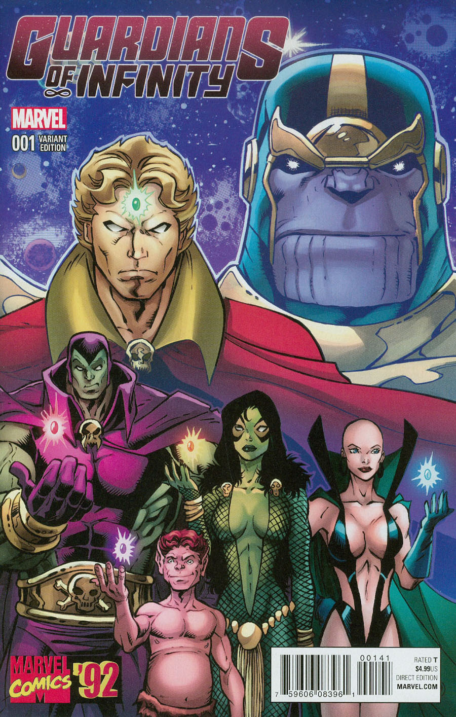 Guardians Of Infinity #1 Cover C Incentive Ron Lim Marvel 92 Variant Cover