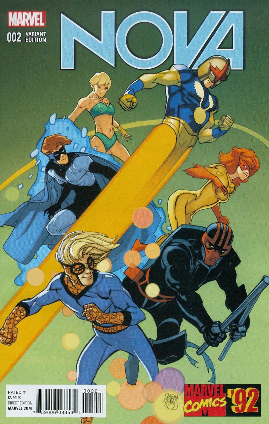 Nova Vol 6 #2 Cover B Incentive Pasqual Ferry Marvel 92 Variant Cover
