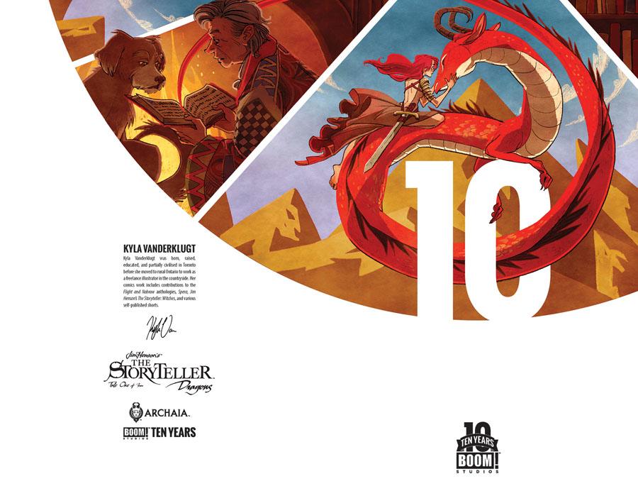 Jim Hensons Storyteller Dragons #1 Cover B Incentive Kyla Vanderklugt BOOM 10 Years Anniversary Virgin Variant Cover