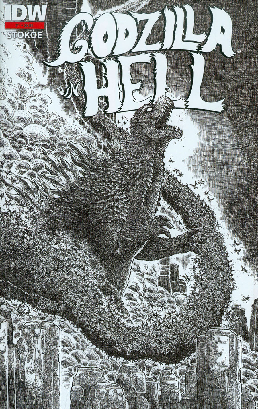 Godzilla In Hell #1 Cover D 3rd Ptg James Stokoe Variant Cover