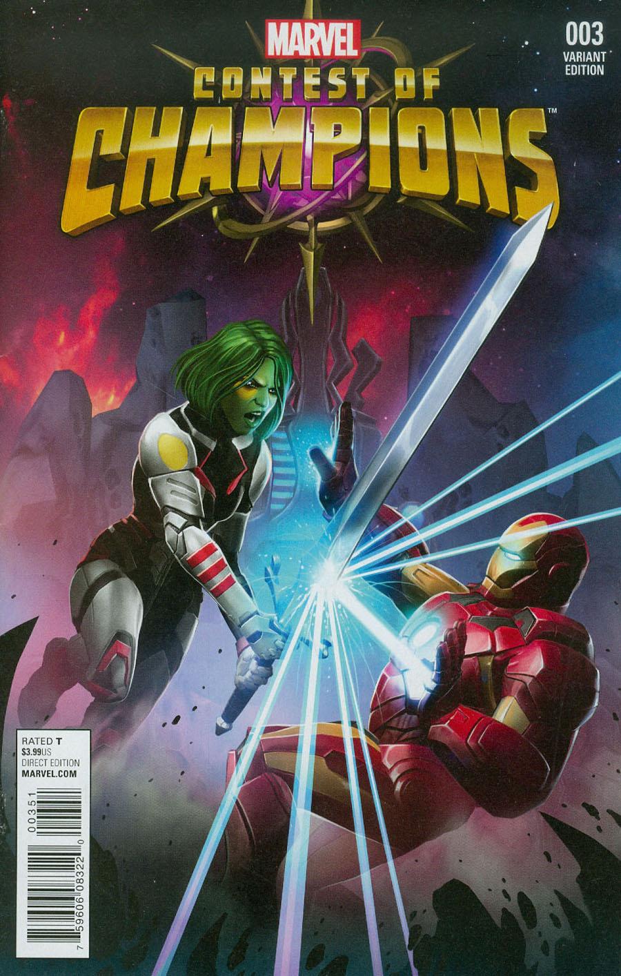 Contest Of Champions Vol 3 #3 Cover C Incentive Kabam Contest Of Champions Game Variant Cover