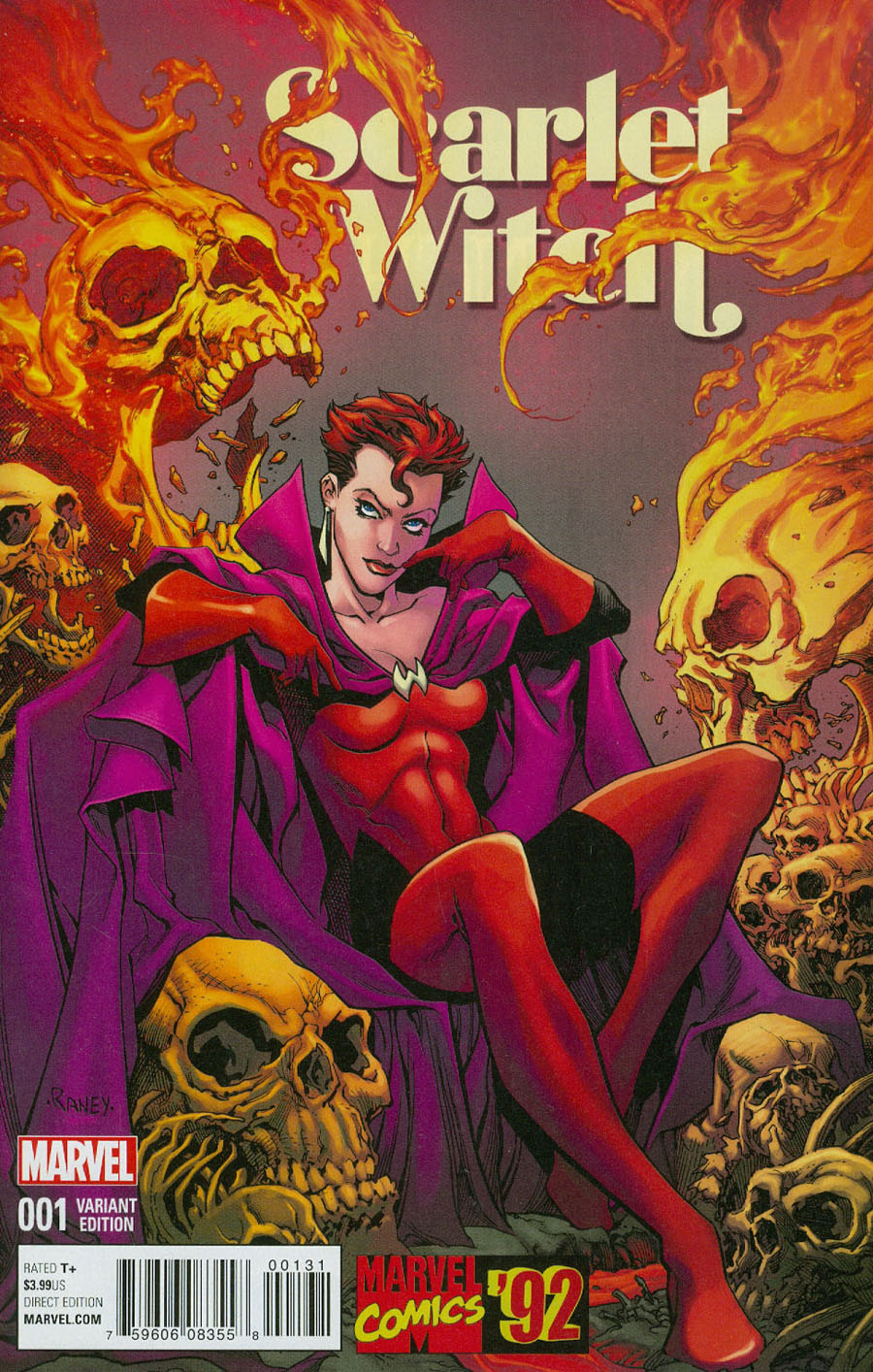 Scarlet Witch Vol 2 #1 Cover C Incentive Tom Raney Marvel 92 Variant Cover