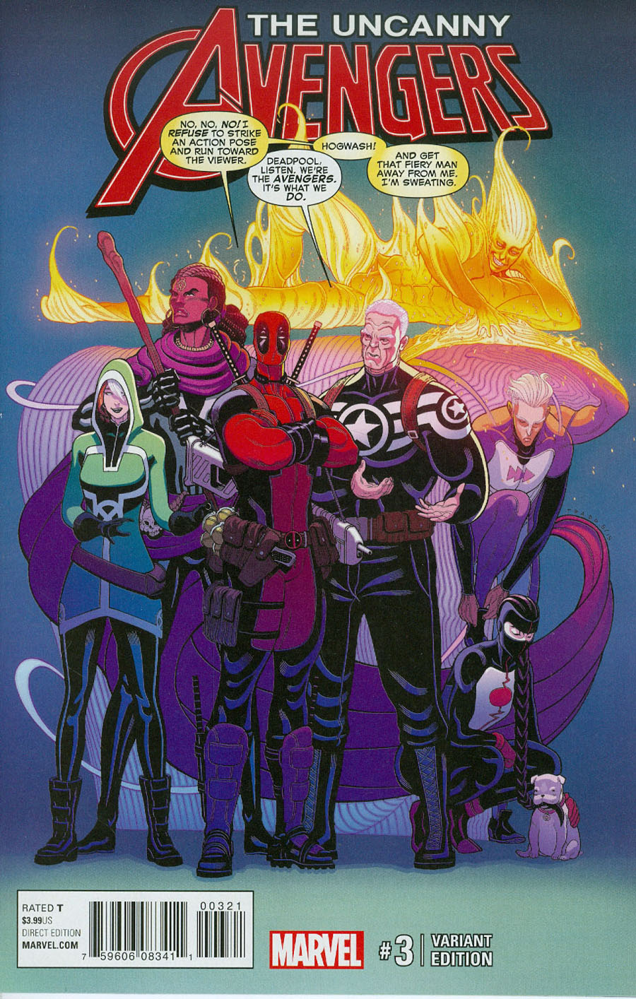 Uncanny Avengers Vol 3 #3 Cover C Incentive Tradd Moore Variant Cover