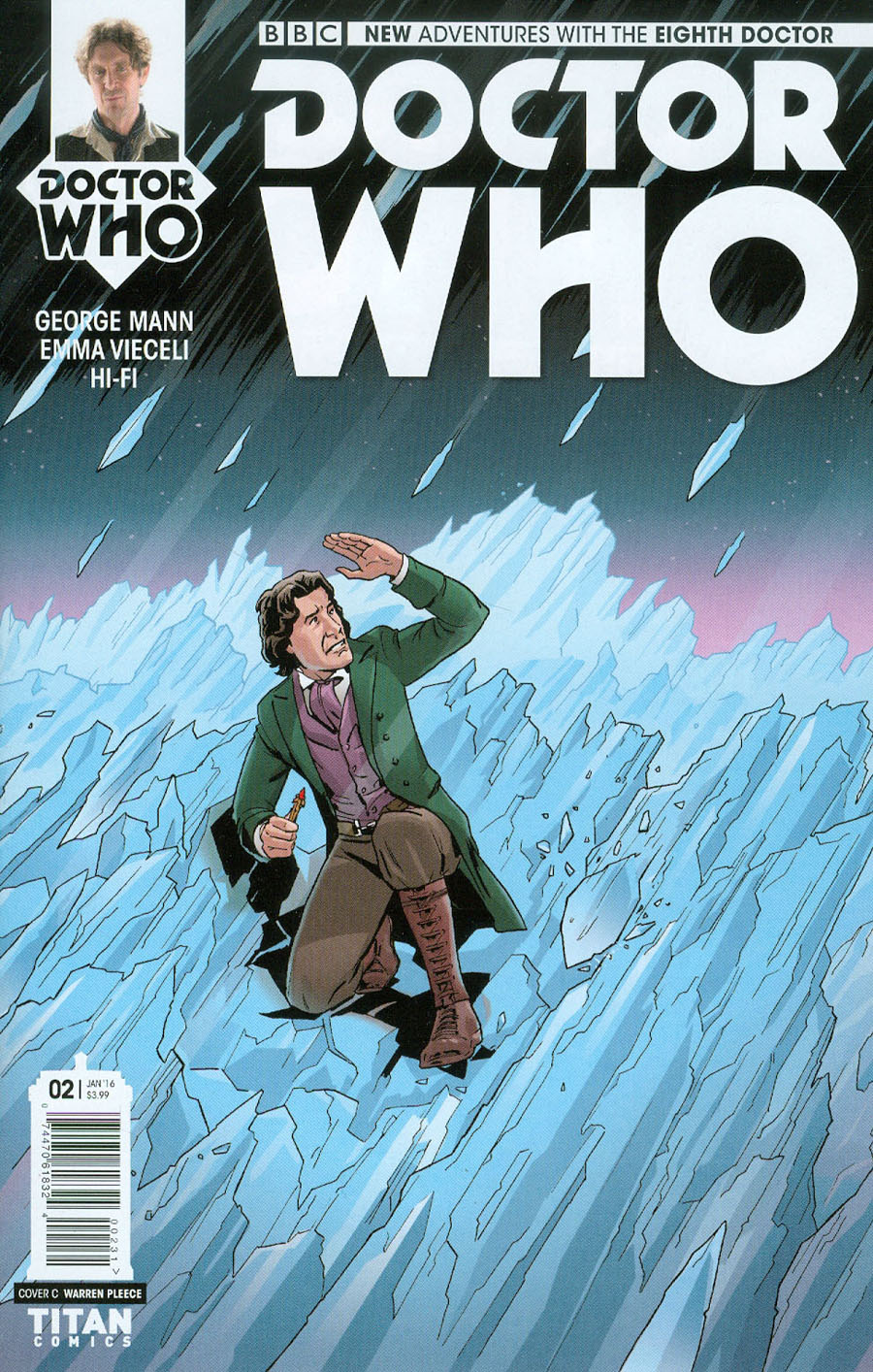 Doctor Who 8th Doctor #2 Cover C Variant Warren Pleece Cover