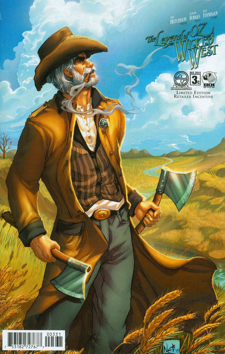 Legend Of Oz The Wicked West Vol 3 #3 Cover C Incentive Nei Ruffino Variant Cover