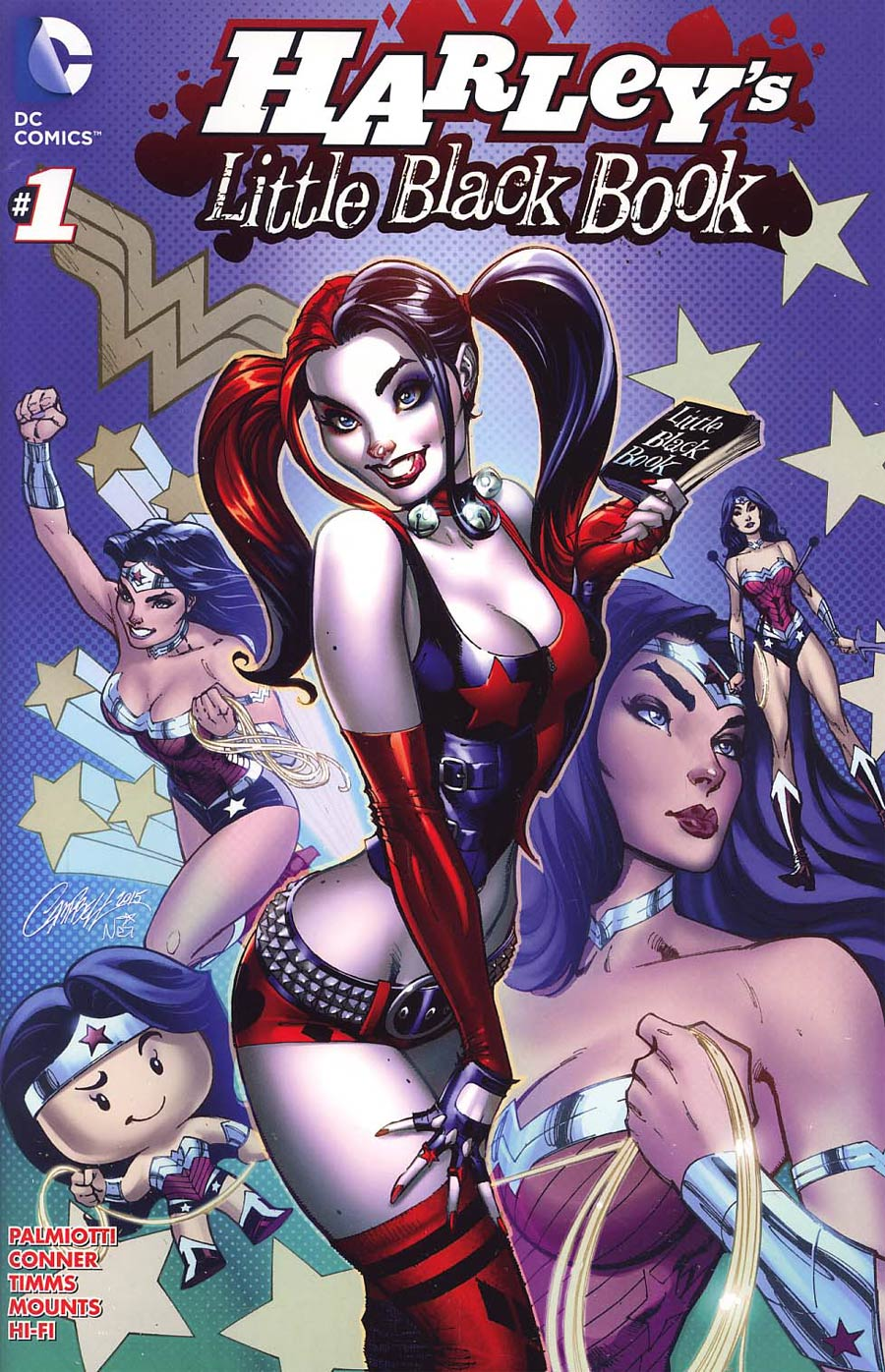 Harleys Little Black Book #1 Cover C Variant J Scott Campbell Harley Quinn Cover Without Polybag Color