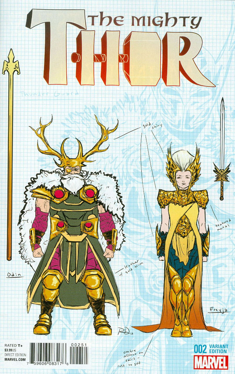 Mighty Thor Vol 2 #2 Cover D Incentive Russell Dauterman Design Variant Cover