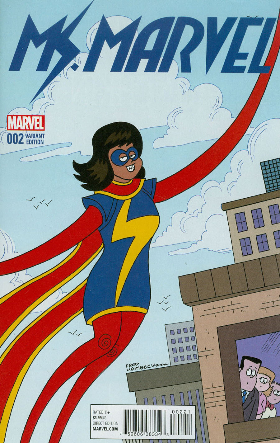 Ms Marvel Vol 4 #2 Cover C Incentive Fred Hembeck Variant Cover