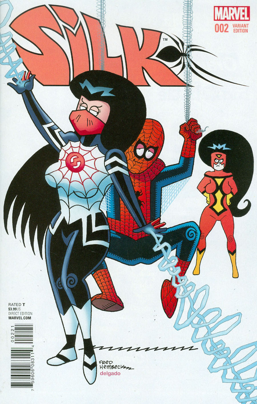 Silk Vol 2 #2 Cover B Incentive Fred Hembeck Variant Cover
