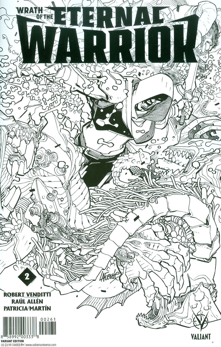 Wrath Of The Eternal Warrior #2 Cover F Incentive David Lafuente Sketch Cover