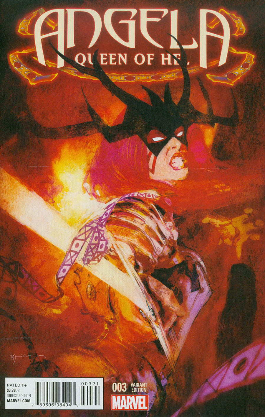 Angela Queen Of Hel #3 Cover B Incentive Bill Sienkiewicz Variant Cover