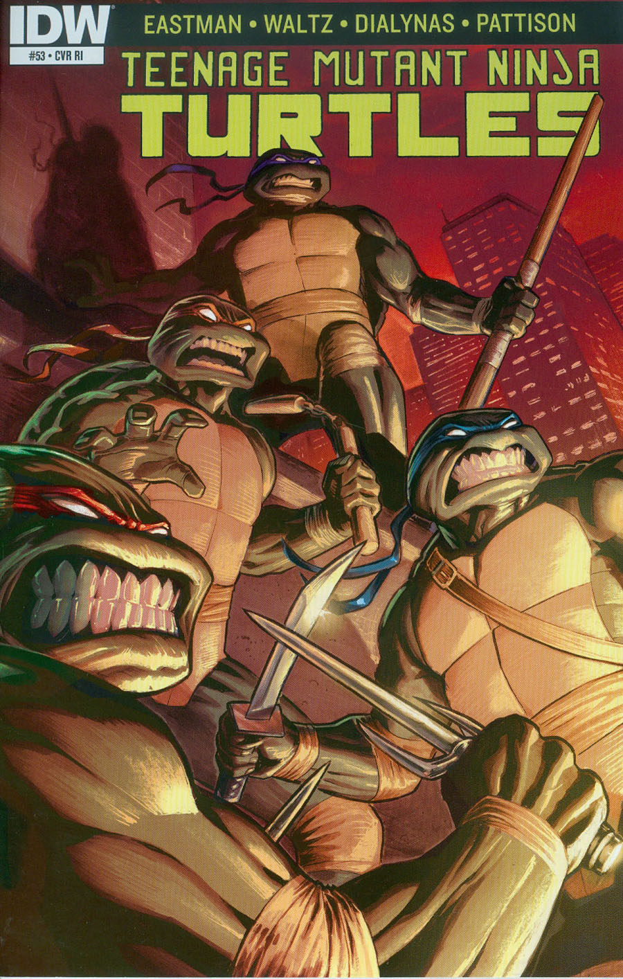 Teenage Mutant Ninja Turtles Vol 5 #53 Cover C Incentive Atilio Rojo Variant Cover