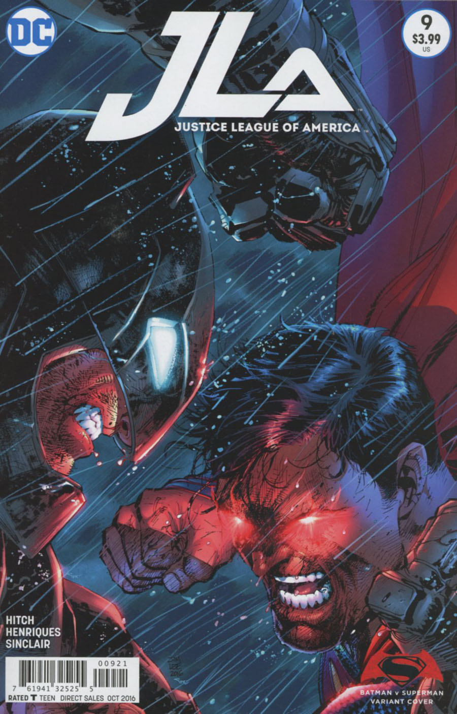 Justice League Of America Vol 4 #9 Cover B Variant Jim Lee Batman v Superman Dawn Of Justice Cover
